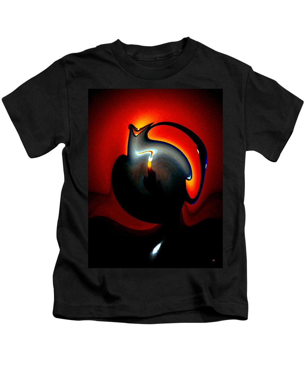 Dramatic Kids T-Shirt featuring the digital art Melting Point by Will Borden