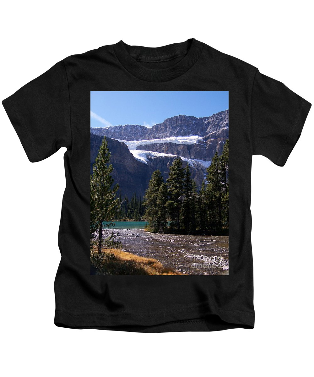 Meltwater Kids T-Shirt featuring the photograph Meltwater by Greg Hammond