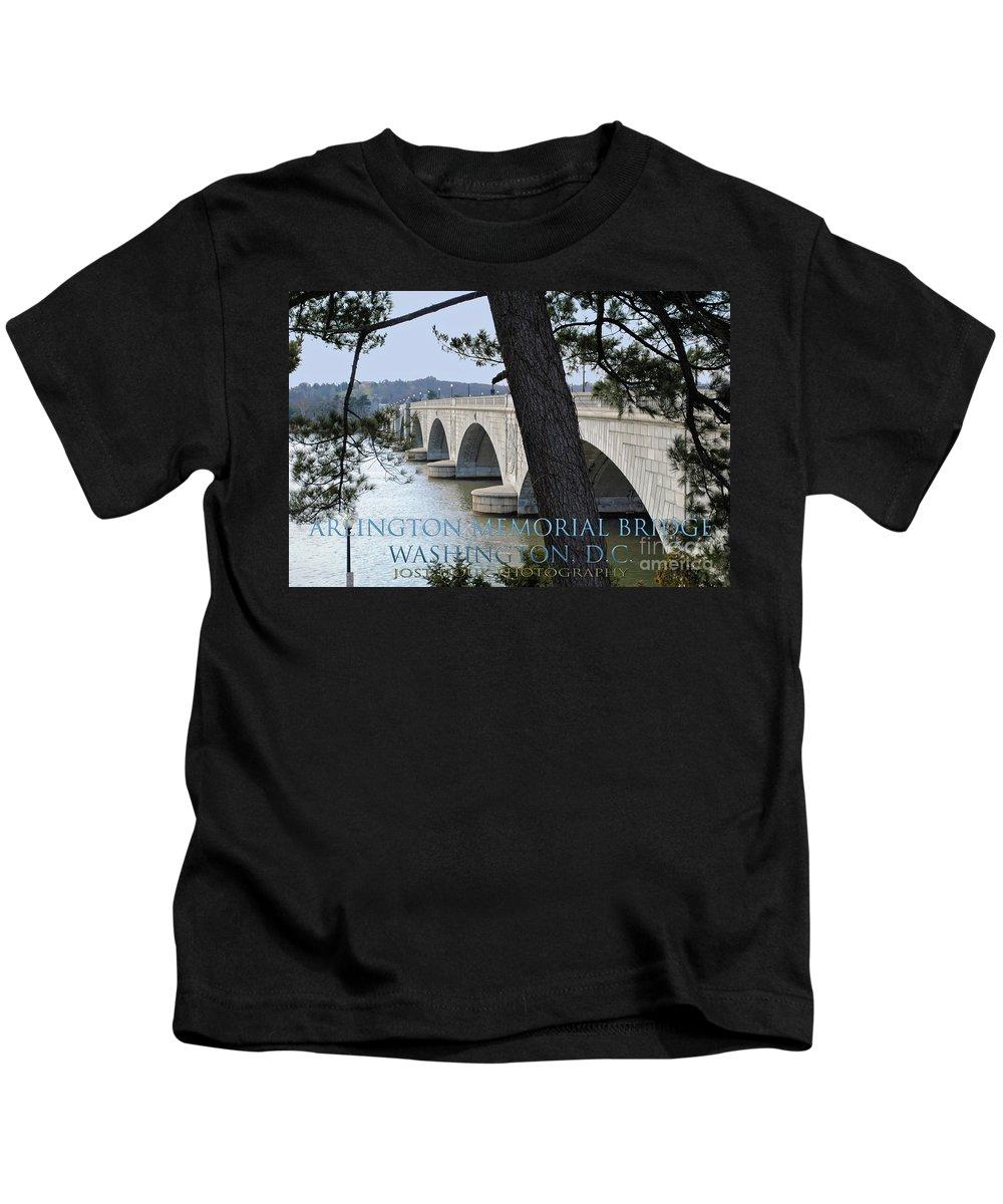 Arlington Kids T-Shirt featuring the photograph Memorial Bridge by Jost Houk
