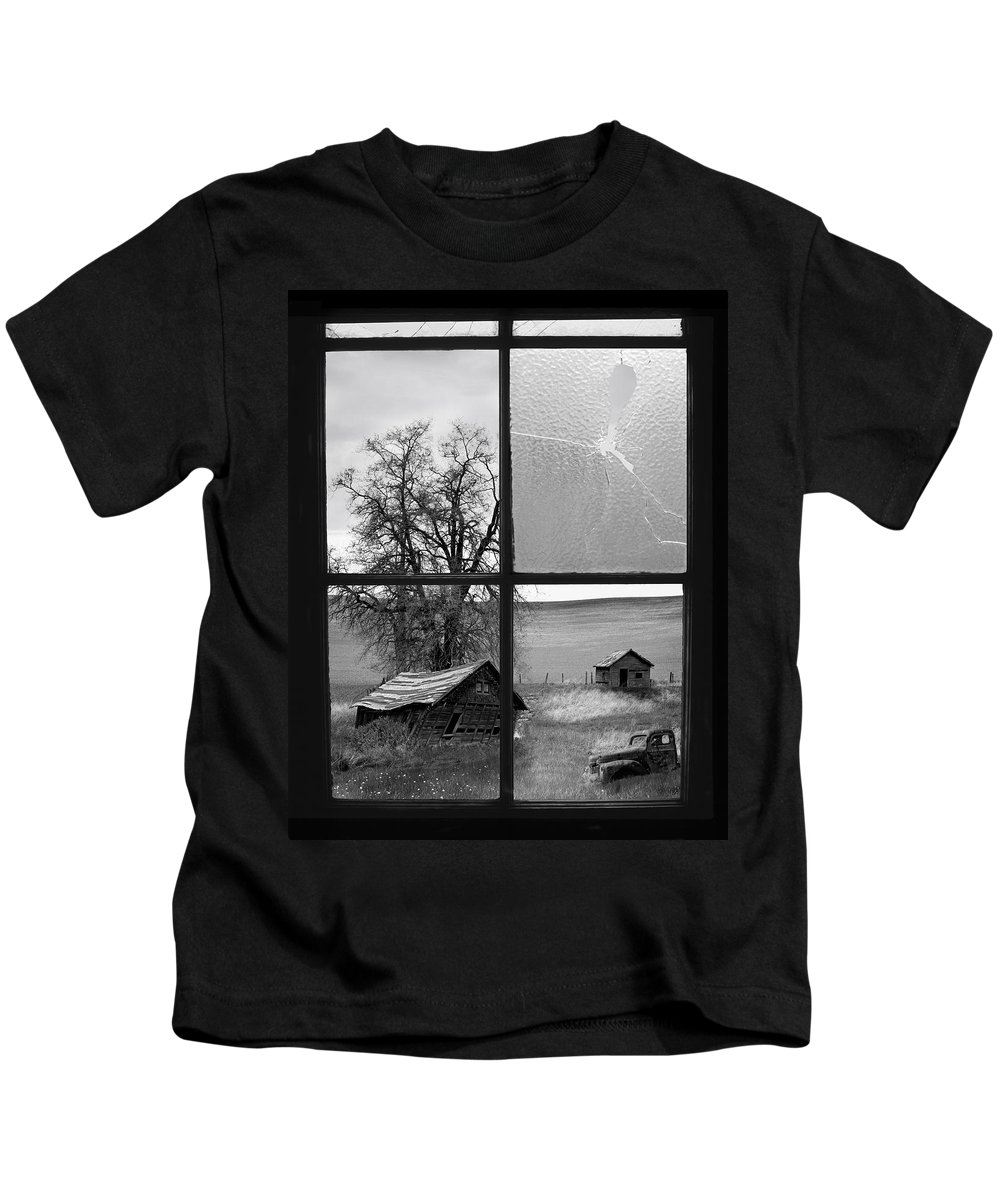 Black And White Kids T-Shirt featuring the photograph Memories Past by Leland D Howard