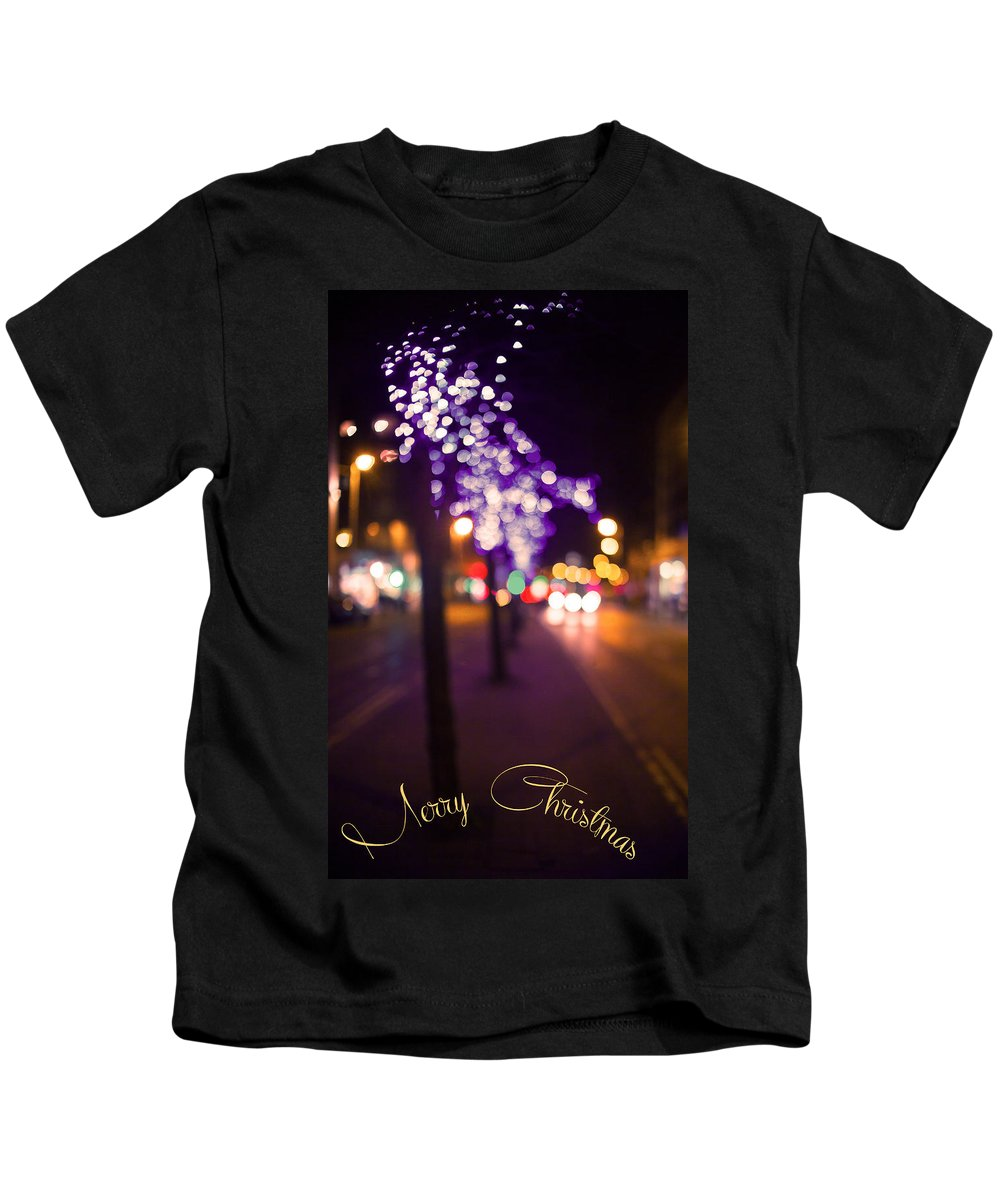 Merry Christmas And Happy New Year Kids T-Shirt featuring the photograph Merry Christmas by Alex Art and Photo