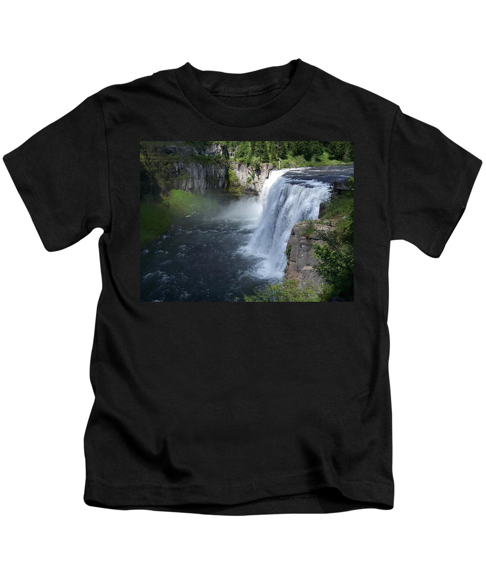 Landscape Kids T-Shirt featuring the photograph Mesa Falls by Gale Cochran-Smith