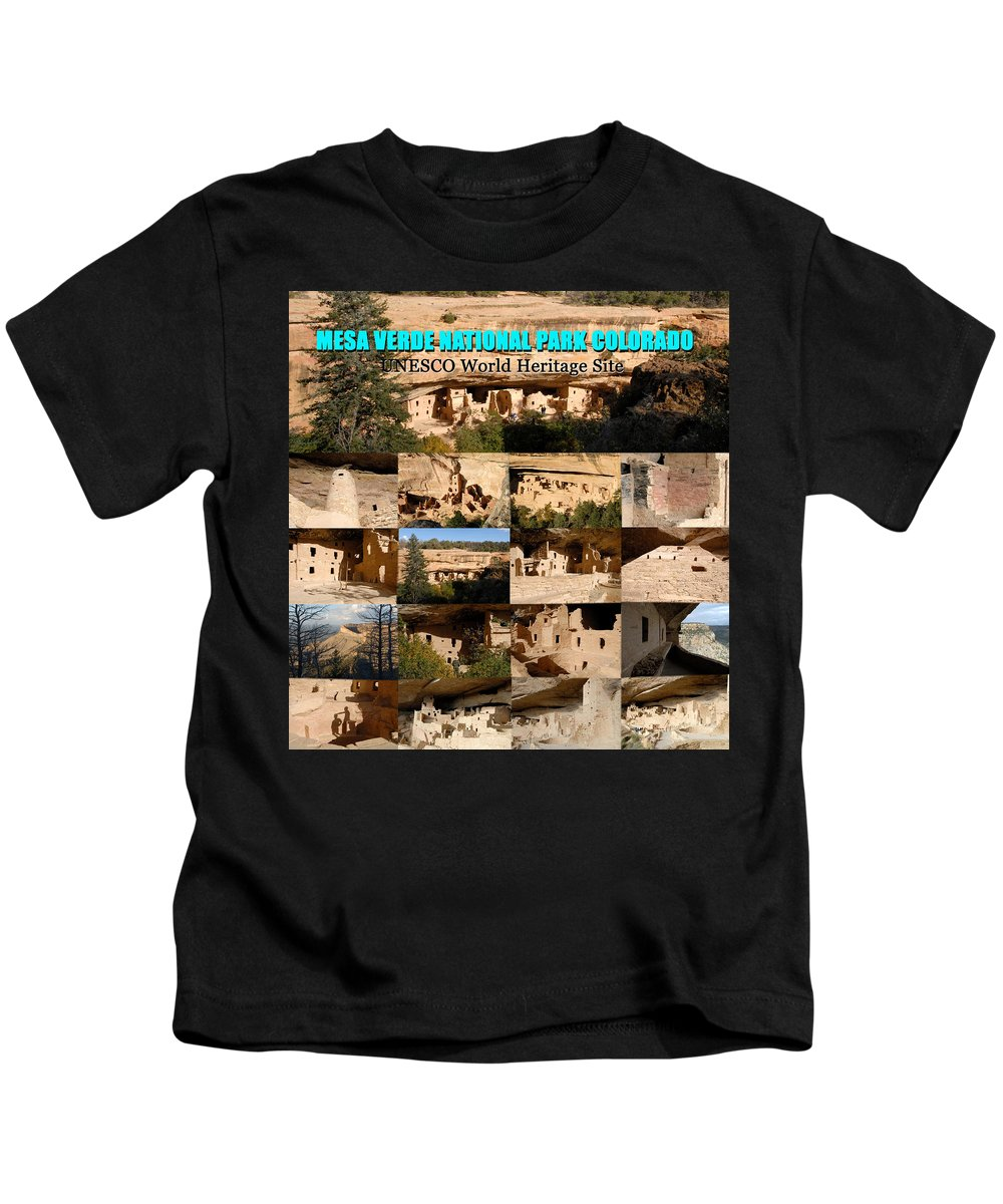Mesa Verde National Park Colorado Kids T-Shirt featuring the photograph Mesa Verde Poster A by David Lee Thompson