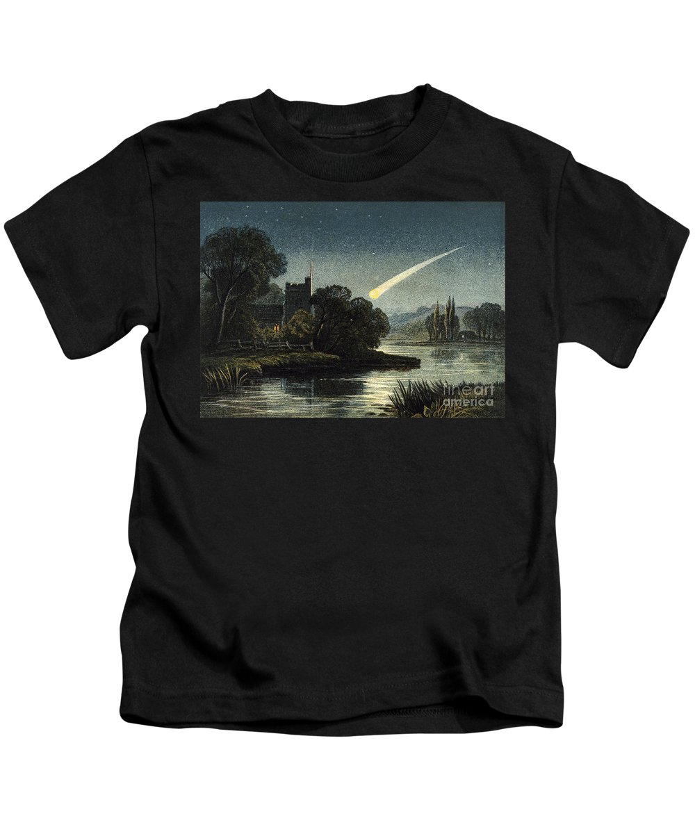 Historic Kids T-Shirt featuring the photograph Meteor In Night Sky, 1868 by Wellcome Images