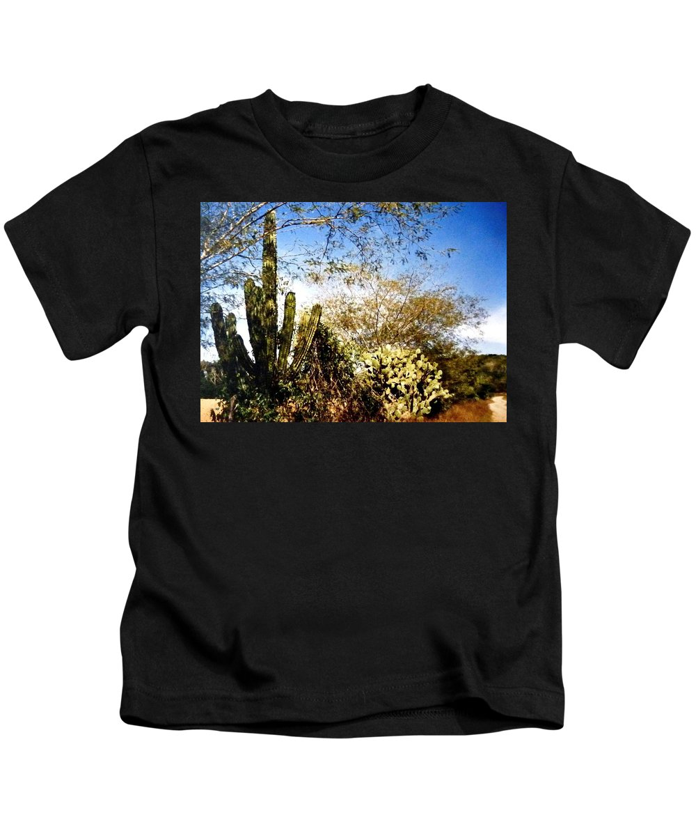 Mexico Kids T-Shirt featuring the photograph Mexican Country Road by Will Borden