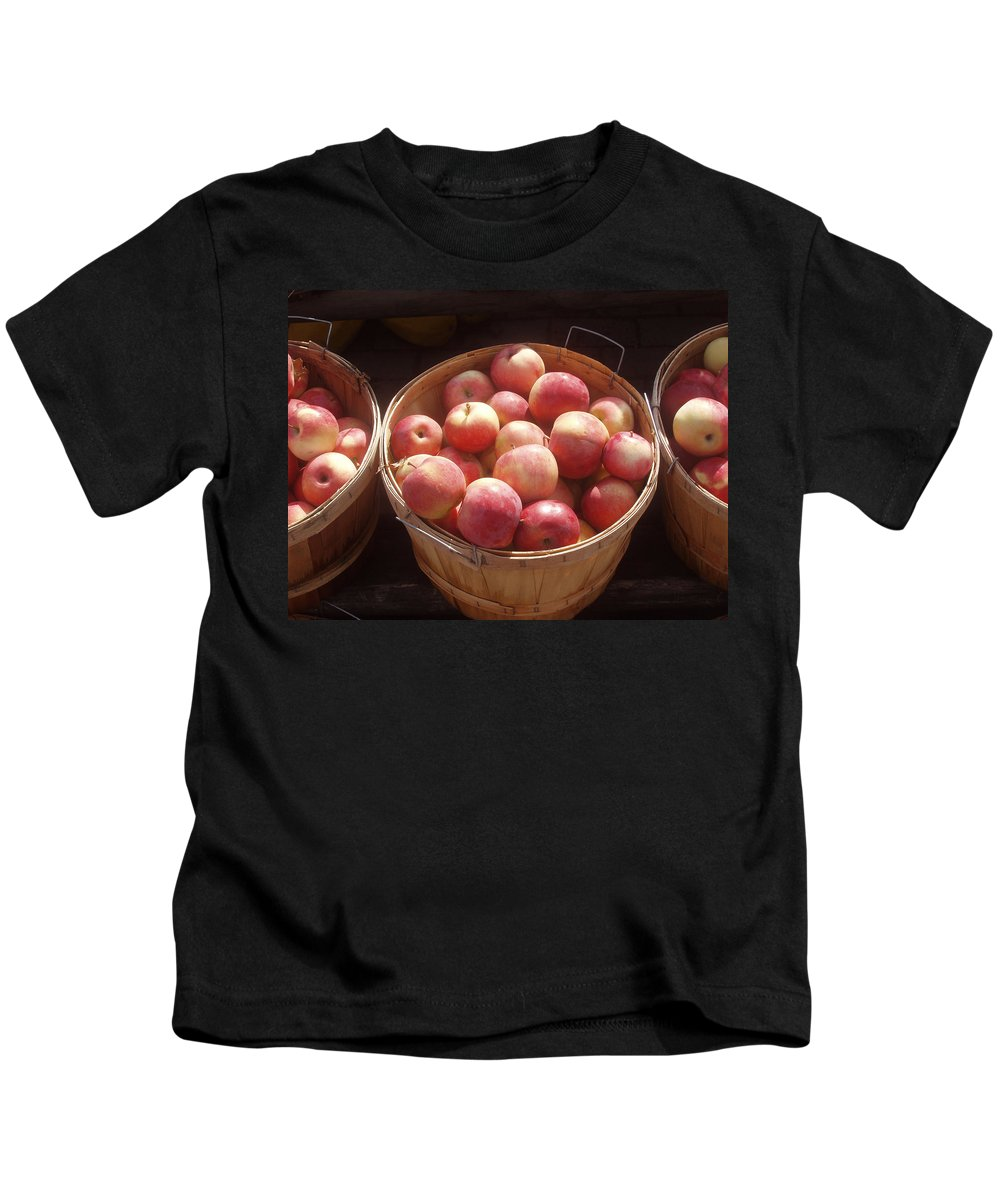 Apples Kids T-Shirt featuring the photograph Michigan Apples by Wayne Potrafka
