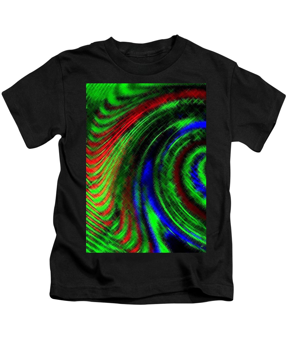 Micro Linear Kids T-Shirt featuring the digital art Micro Linear 3 by Will Borden