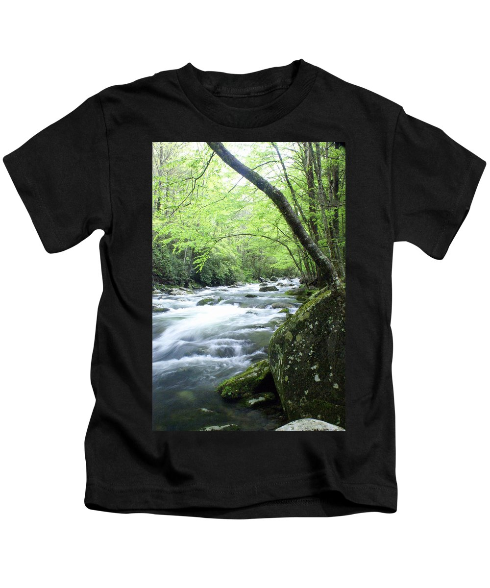 Stream Rive Kids T-Shirt featuring the photograph Middle Fork River by Marty Koch