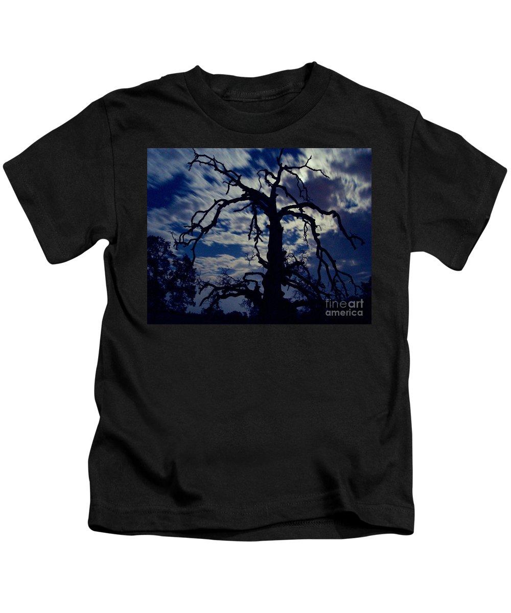 Clouds Kids T-Shirt featuring the photograph Midnight Blue by Peter Piatt