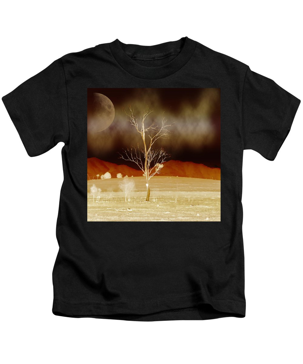 Landscapes Kids T-Shirt featuring the photograph Midnight Vogue by Holly Kempe