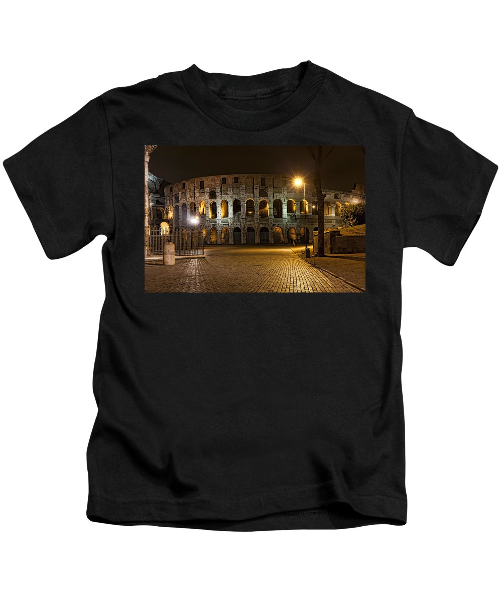Italy Kids T-Shirt featuring the photograph Midnight Walk by Janet Fikar