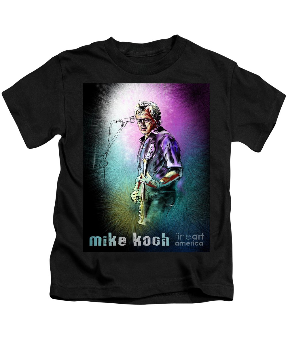 Mike Koch Portrait Kids T-Shirt featuring the digital art Mike Koch by Miki De Goodaboom
