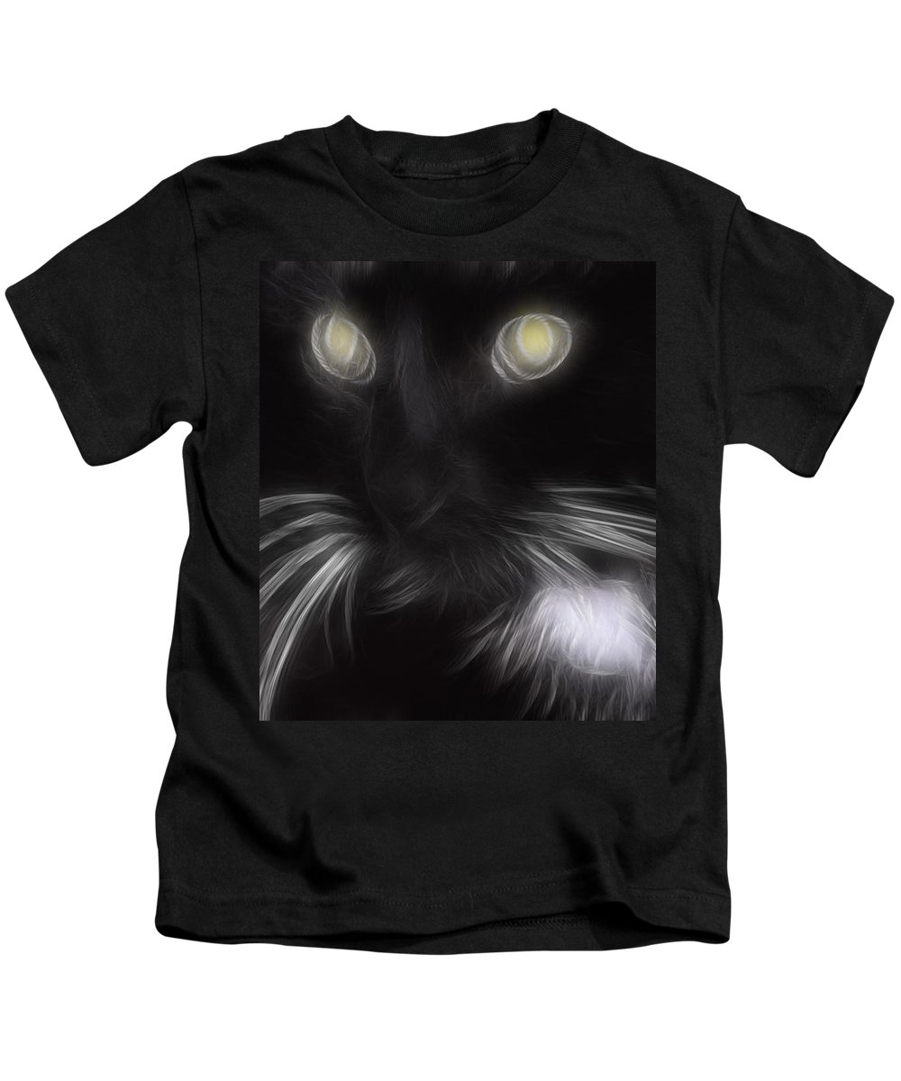 Animal Kids T-Shirt featuring the digital art Mikey by Holly Ethan