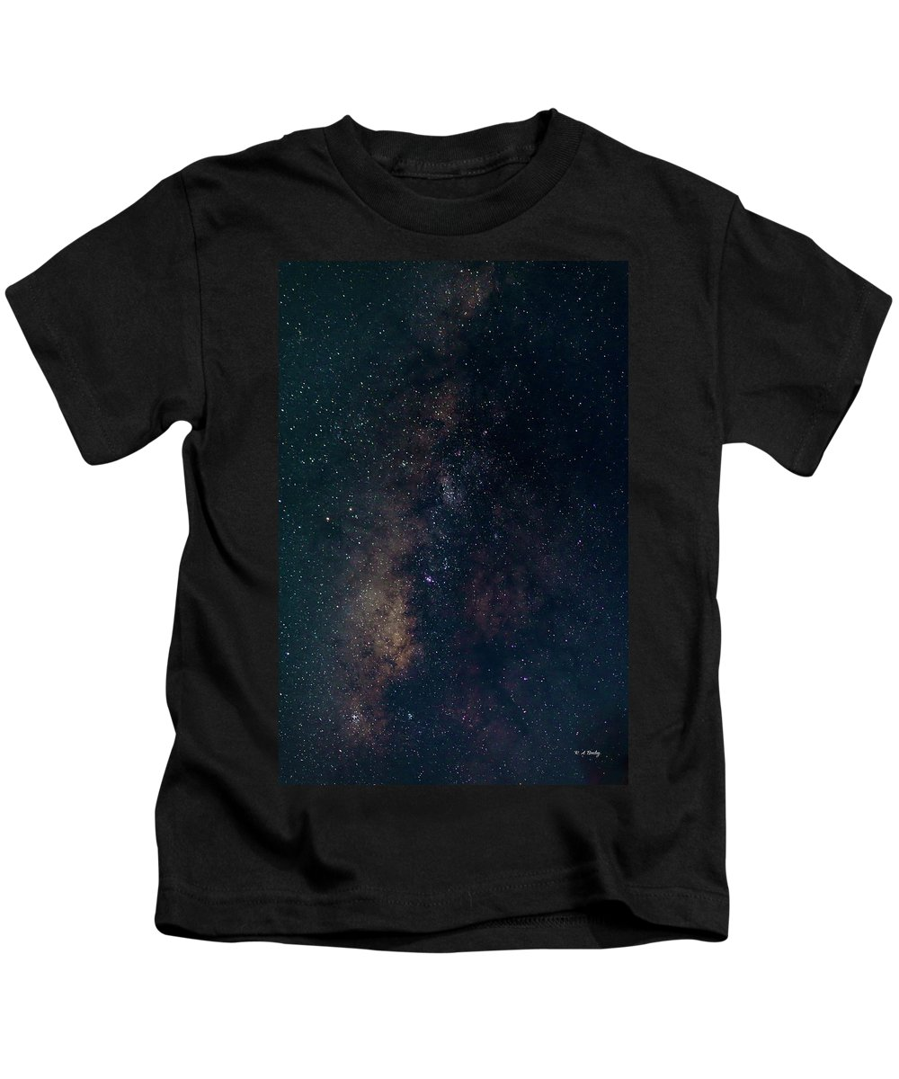 Astrophotography Kids T-Shirt featuring the photograph Milky Way by Robert Bresley