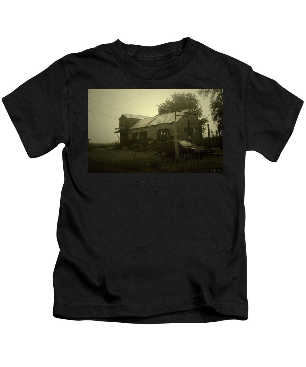 Milltown Kids T-Shirt featuring the photograph Milltown Merchantile by Tim Nyberg
