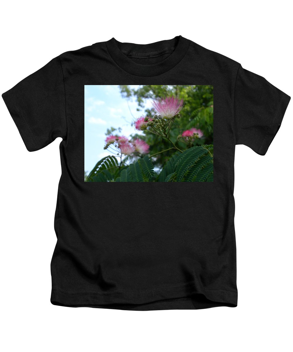 Mimosa Kids T-Shirt featuring the photograph Mimosa Sky by Anne Cameron Cutri