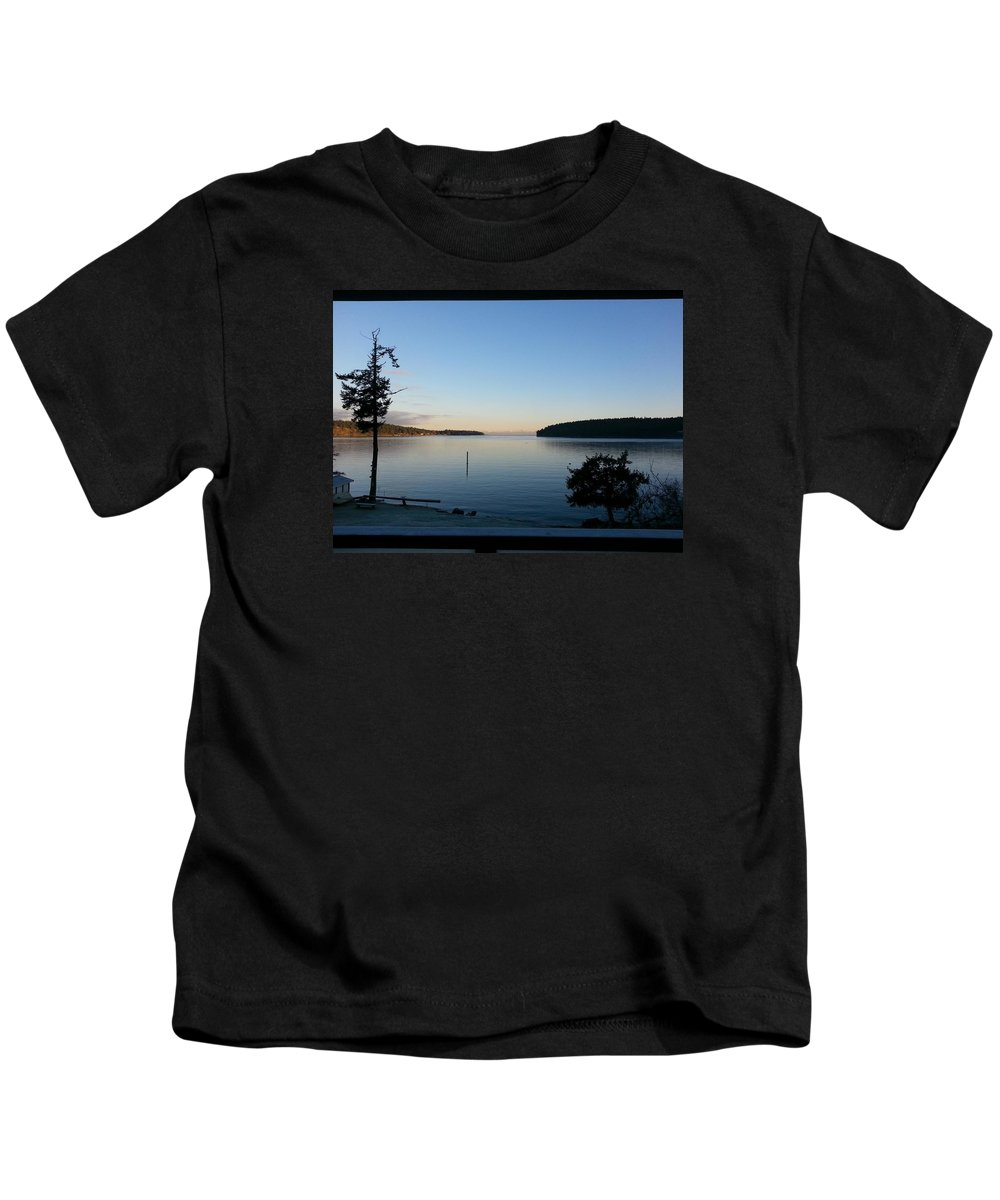 Landscape Kids T-Shirt featuring the photograph Miners Bay Nye Morning 2015 by John Greaves