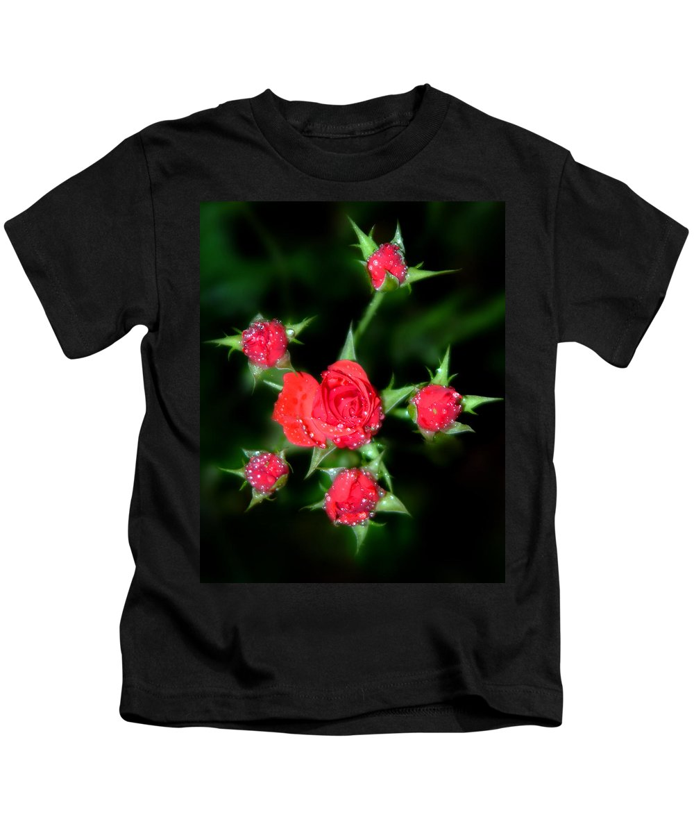 Roses Kids T-Shirt featuring the photograph Mini Roses by Anthony Jones