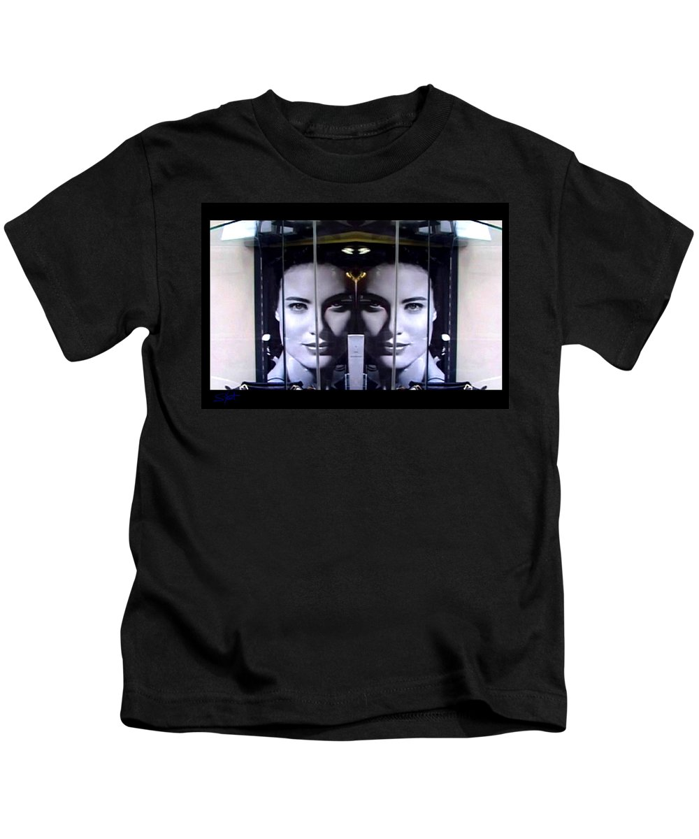 Dream Kids T-Shirt featuring the photograph Mirror Image by Charles Stuart