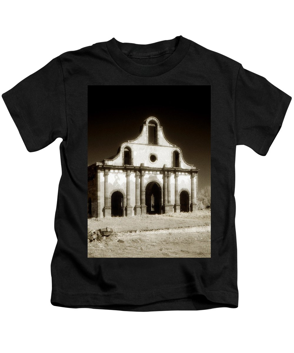 Mission Kids T-Shirt featuring the photograph Mission Abandoned by Marilyn Hunt