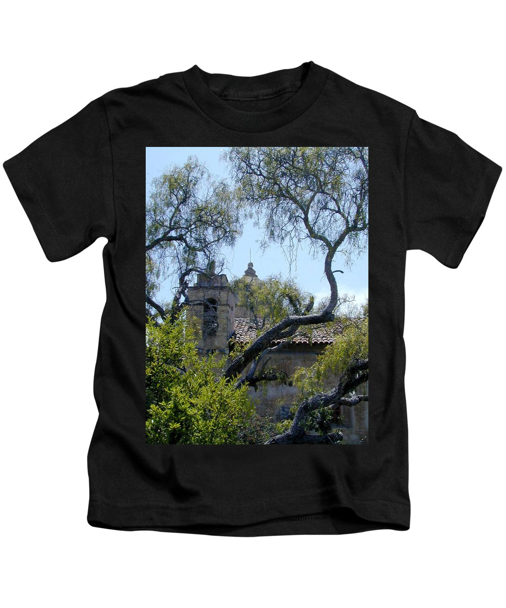 Mission Kids T-Shirt featuring the photograph Mission At Carmell by Douglas Barnett