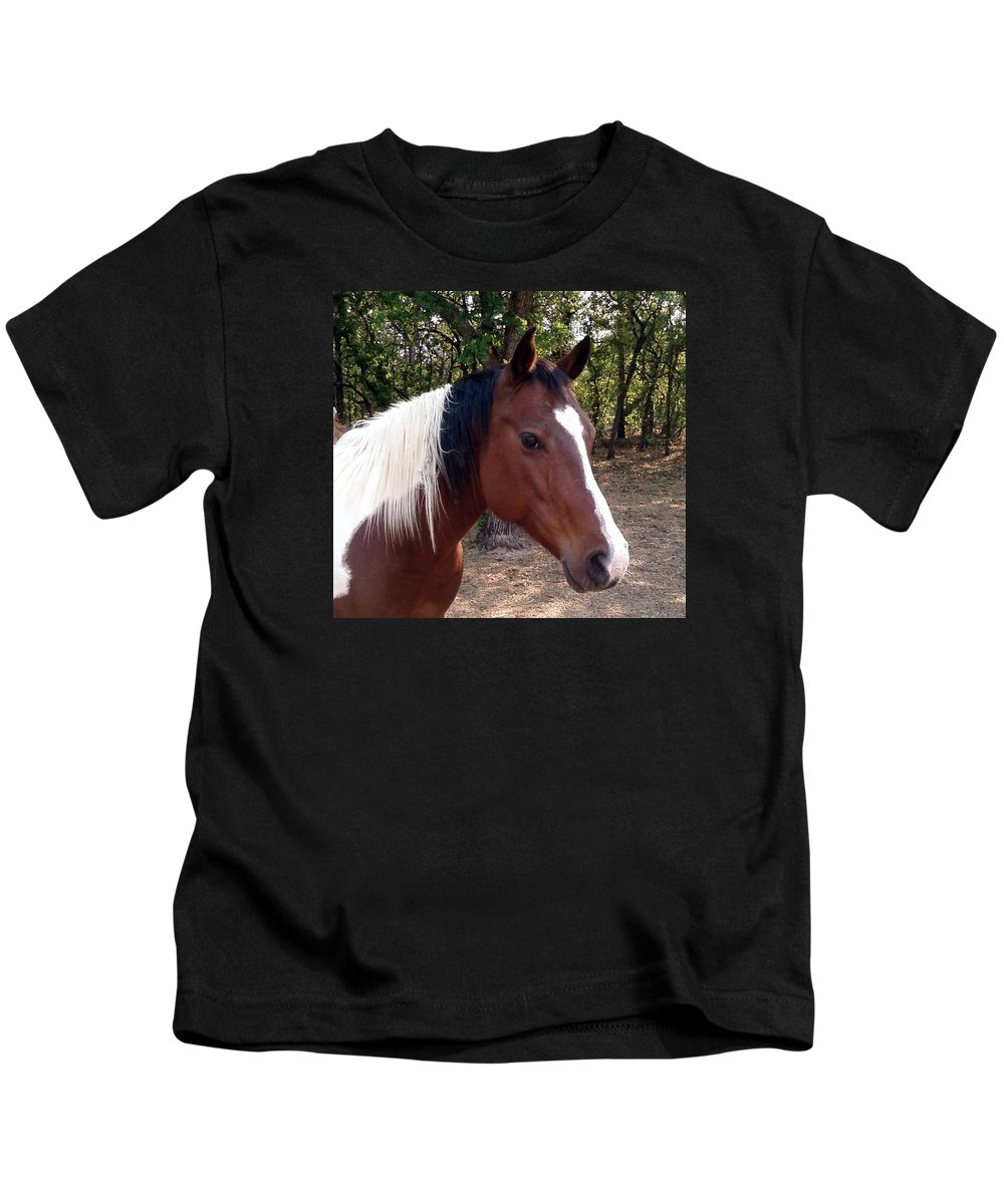 Paint Horse Kids T-Shirt featuring the photograph Missy 1 by Cindy New