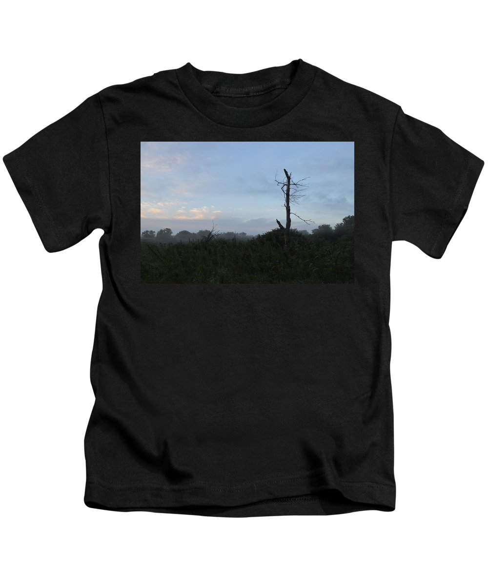 Sunrise Kids T-Shirt featuring the photograph Misty Sunrise by Sharmila Taylor