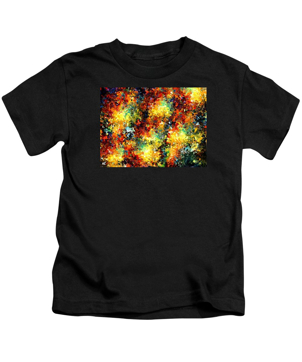 Contemporary Kids T-Shirt featuring the painting Modern Composition 02 by Rafi Talby