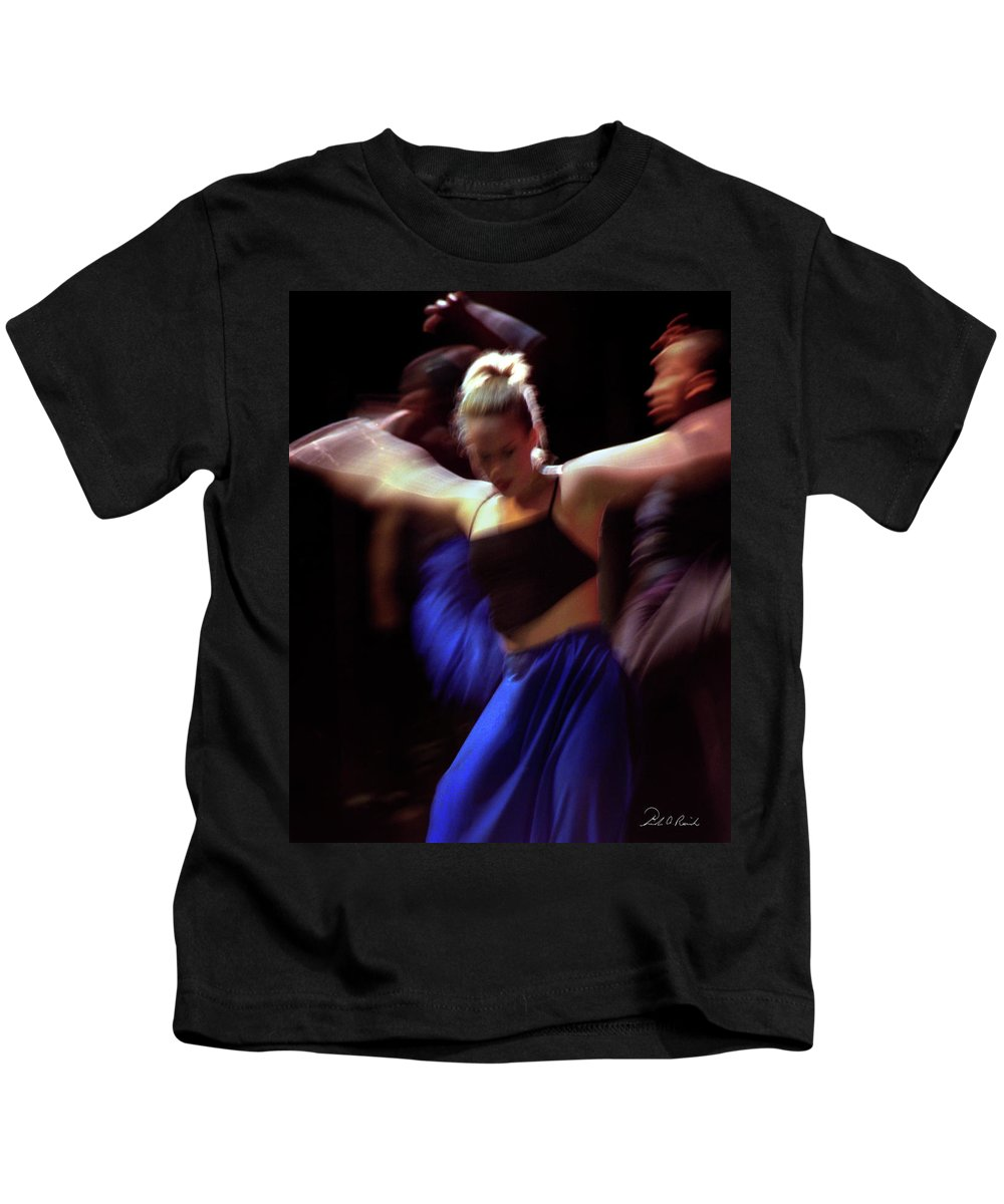 Photography Kids T-Shirt featuring the photograph Modern Dance Motion by Frederic A Reinecke