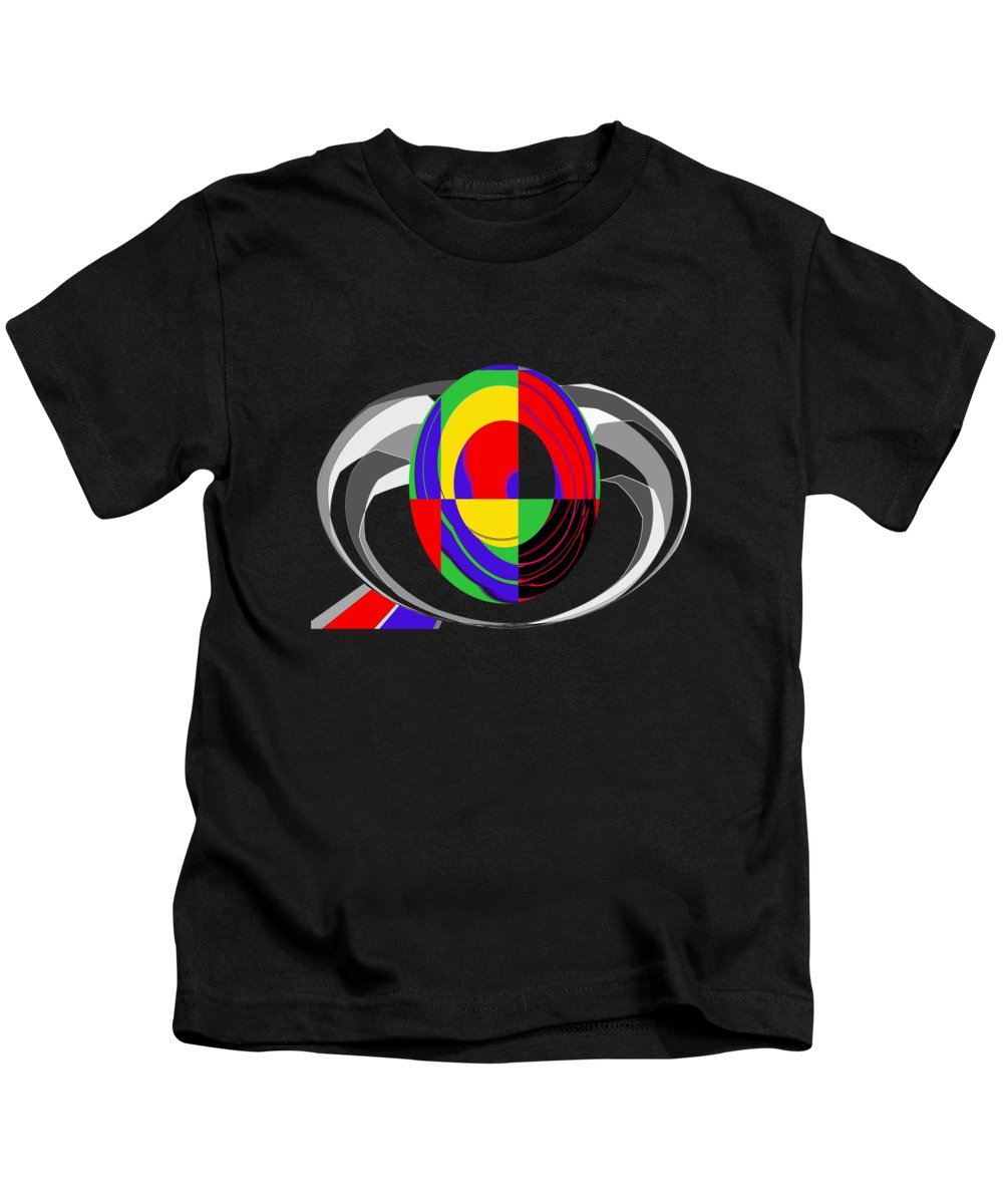 Modern Egg Kids T-Shirt featuring the painting Modern Egg by Methune Hively