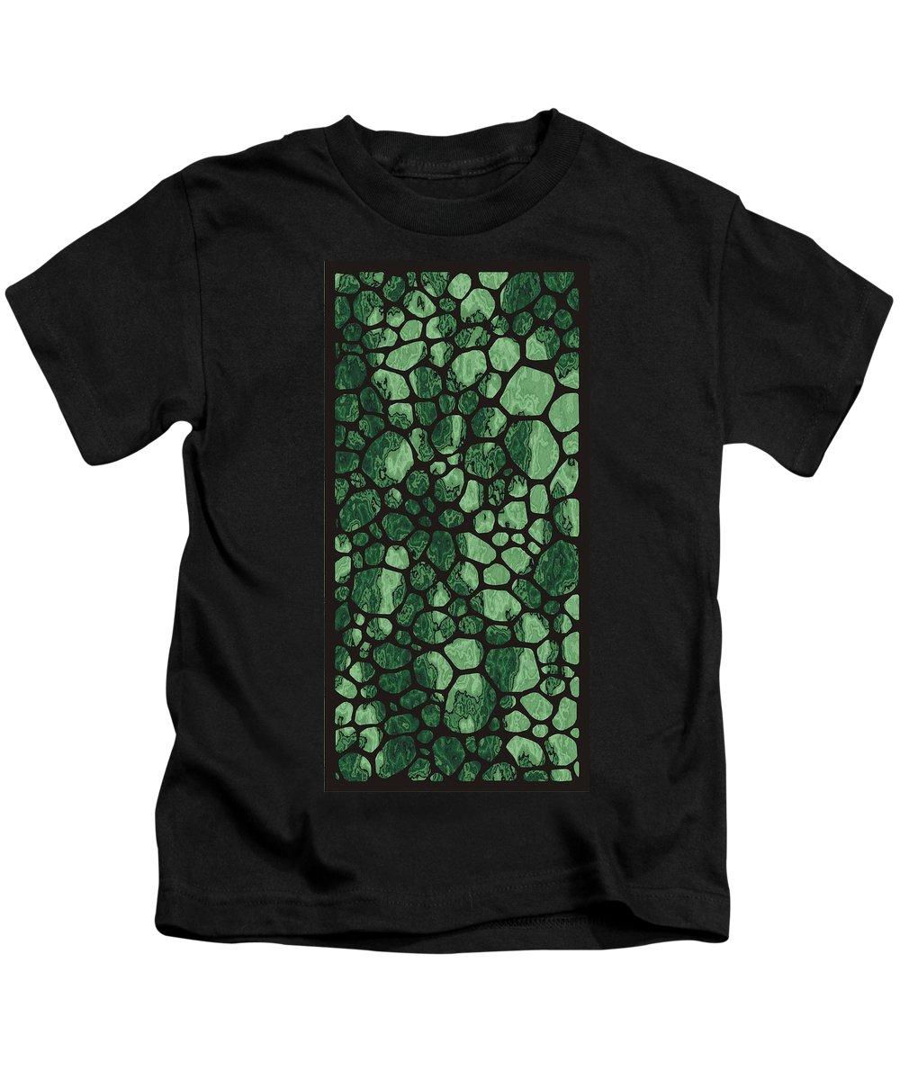Modern Stone Kids T-Shirt featuring the digital art Modern Stone by Priscilla Wolfe