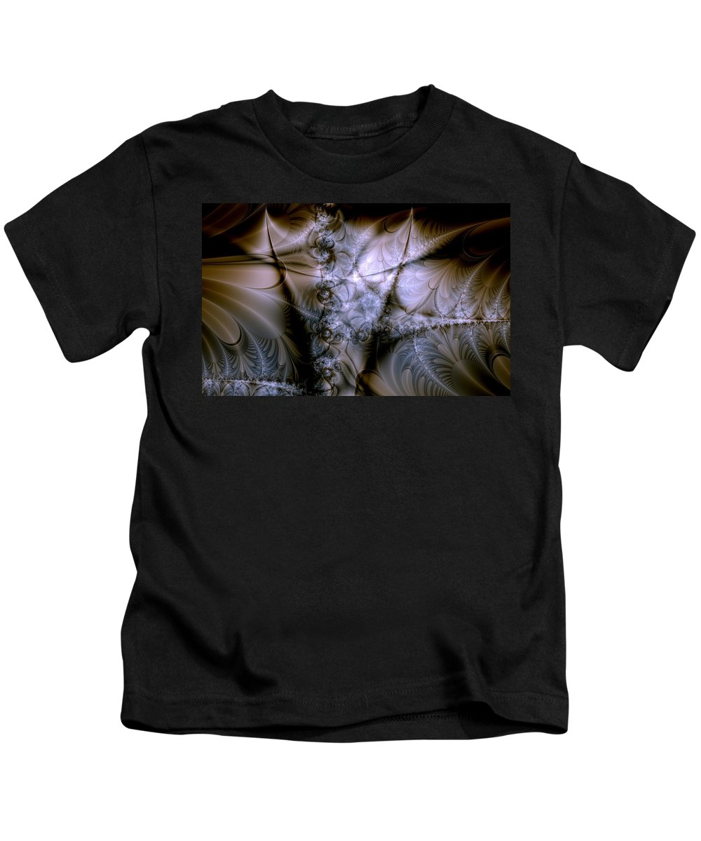 Chocolate Kids T-Shirt featuring the digital art Molecular Cacao by Casey Kotas