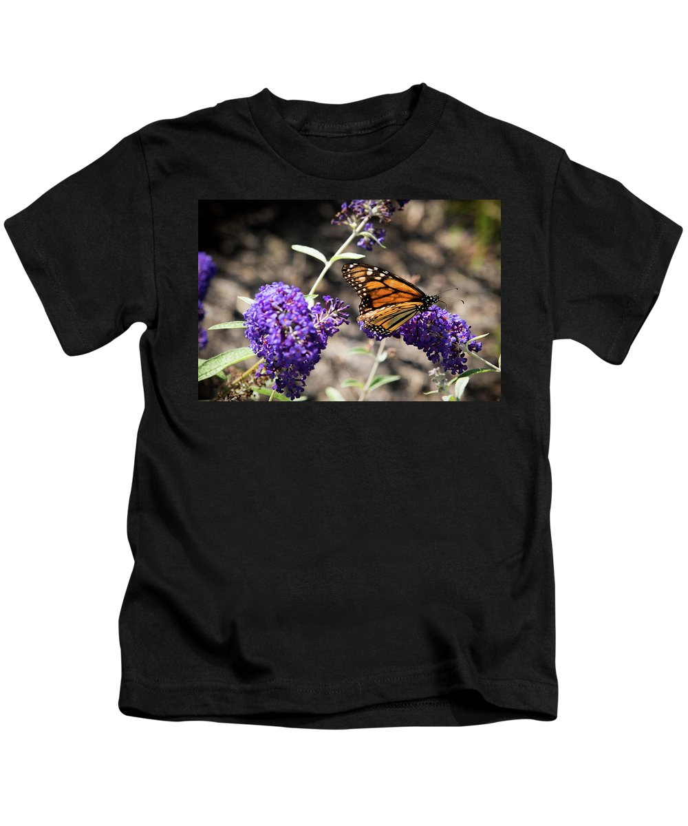 Monarch Kids T-Shirt featuring the photograph Monarch Butterfly by Jaime Lind