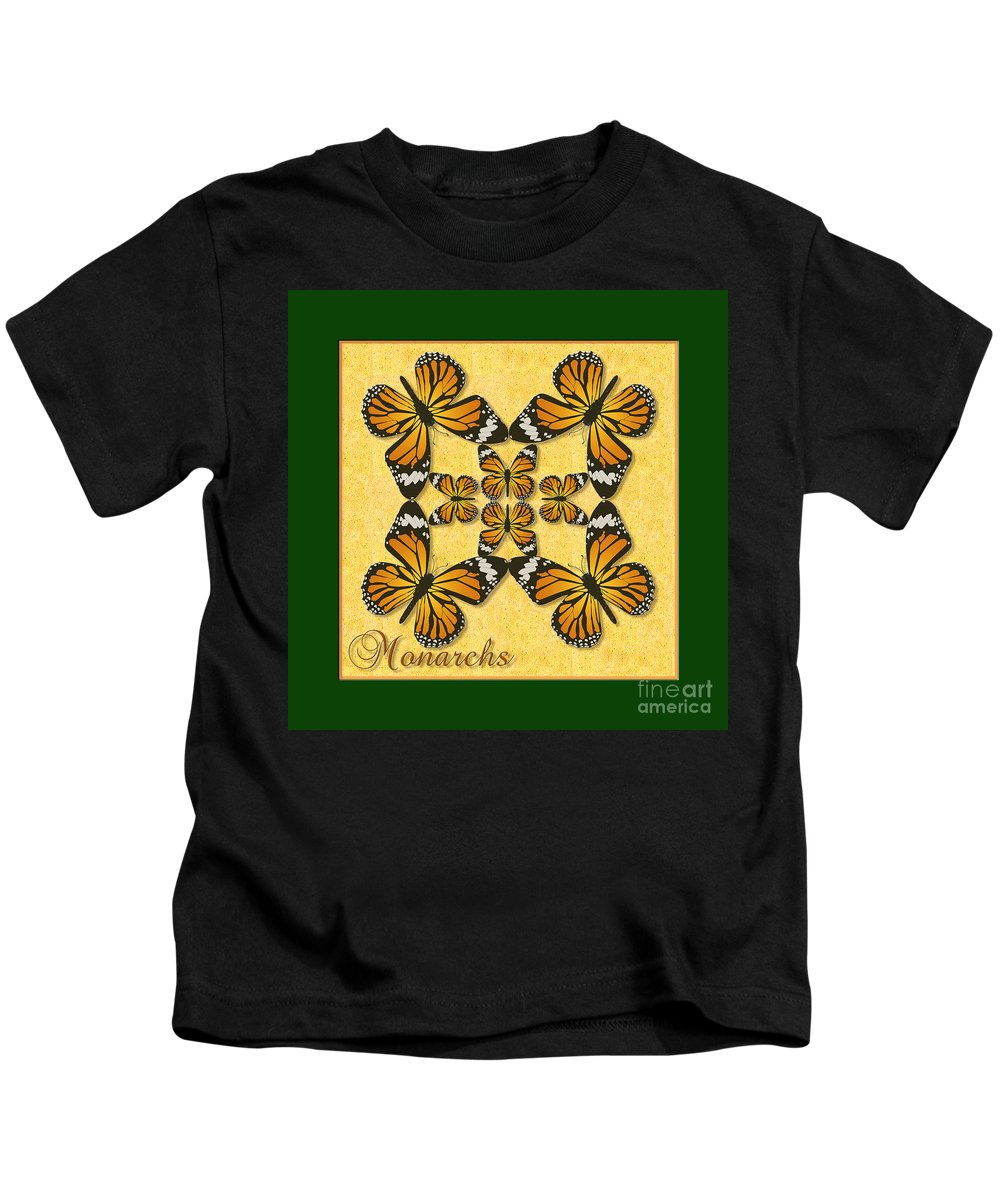 Butterfly Kids T-Shirt featuring the photograph Monarch Butterfly Pin Wheel by Melissa A Benson