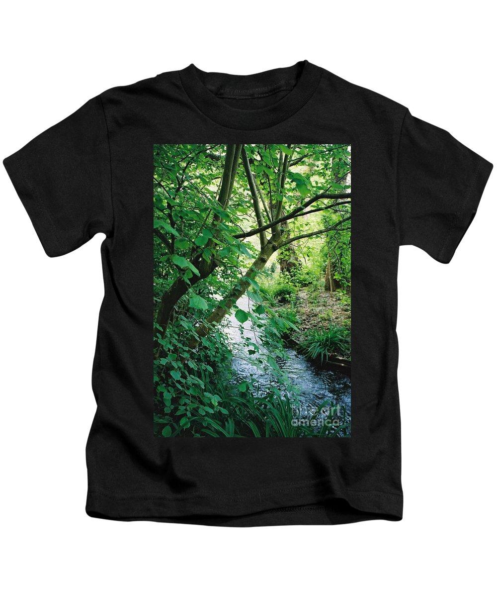 Photography Kids T-Shirt featuring the photograph Monet's Garden Stream by Nadine Rippelmeyer