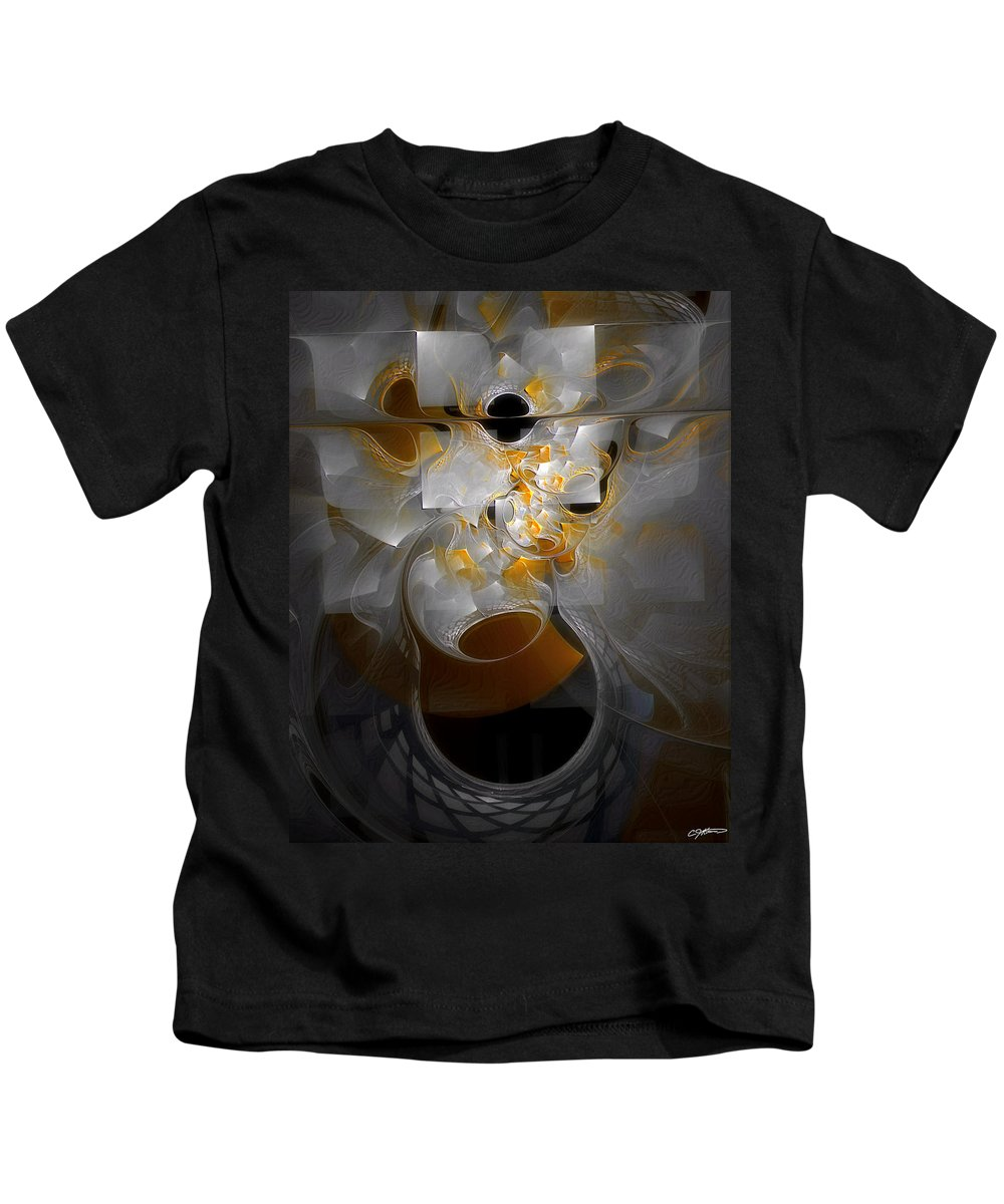 Abstract Kids T-Shirt featuring the digital art Monolith And Friends by Casey Kotas