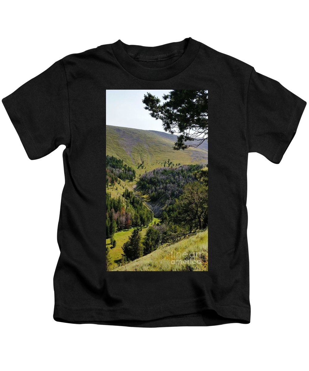 Landscape Kids T-Shirt featuring the photograph Montana Call Of The Wild by Fred Kamps