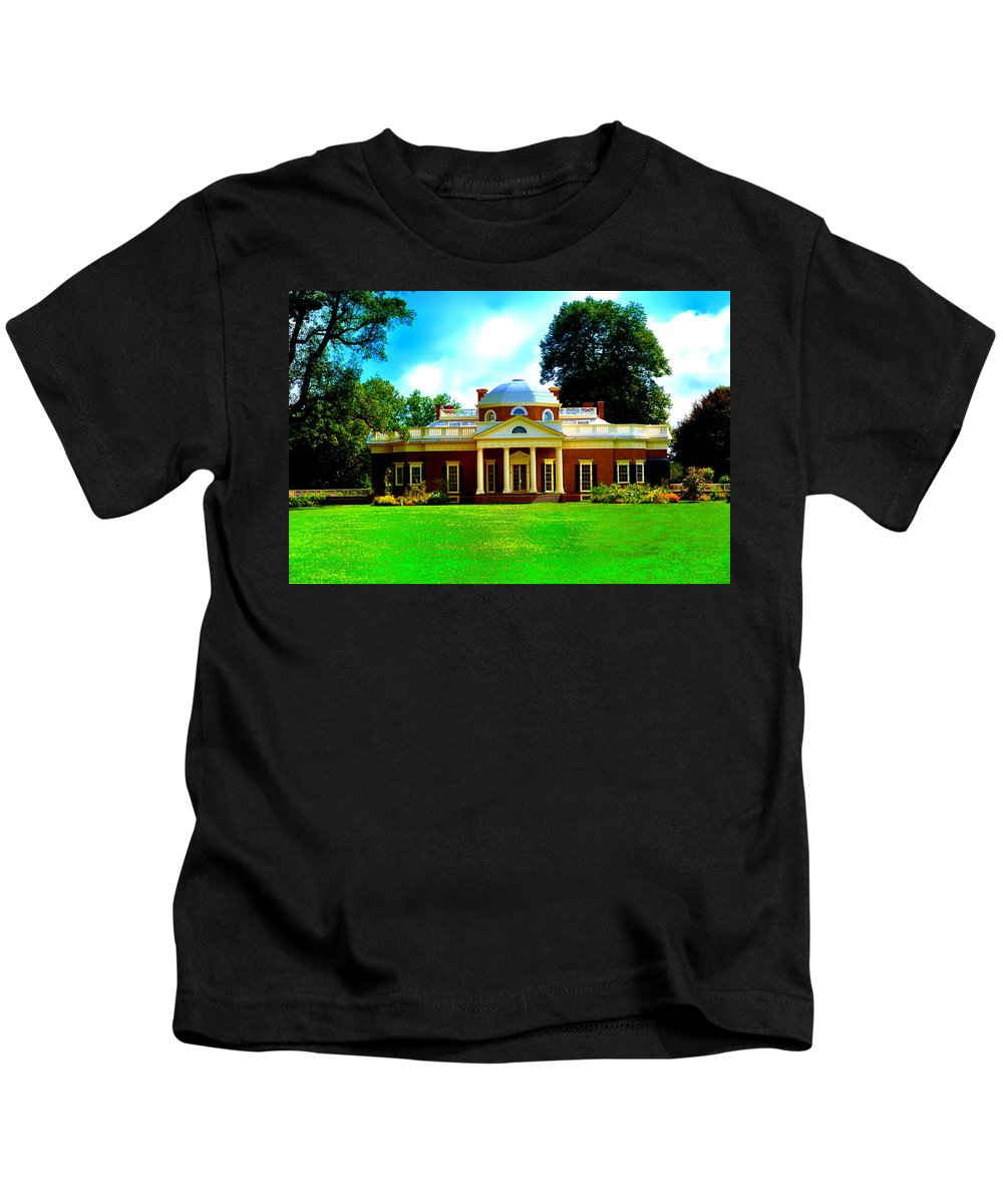 Monticello Kids T-Shirt featuring the photograph Monticello by Bill Cannon