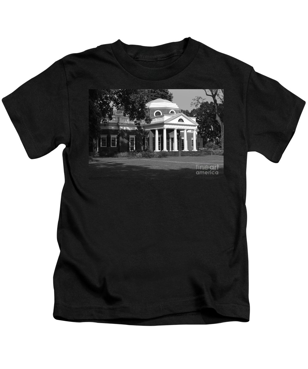 Monticello Kids T-Shirt featuring the photograph Monticello by Eric Liller