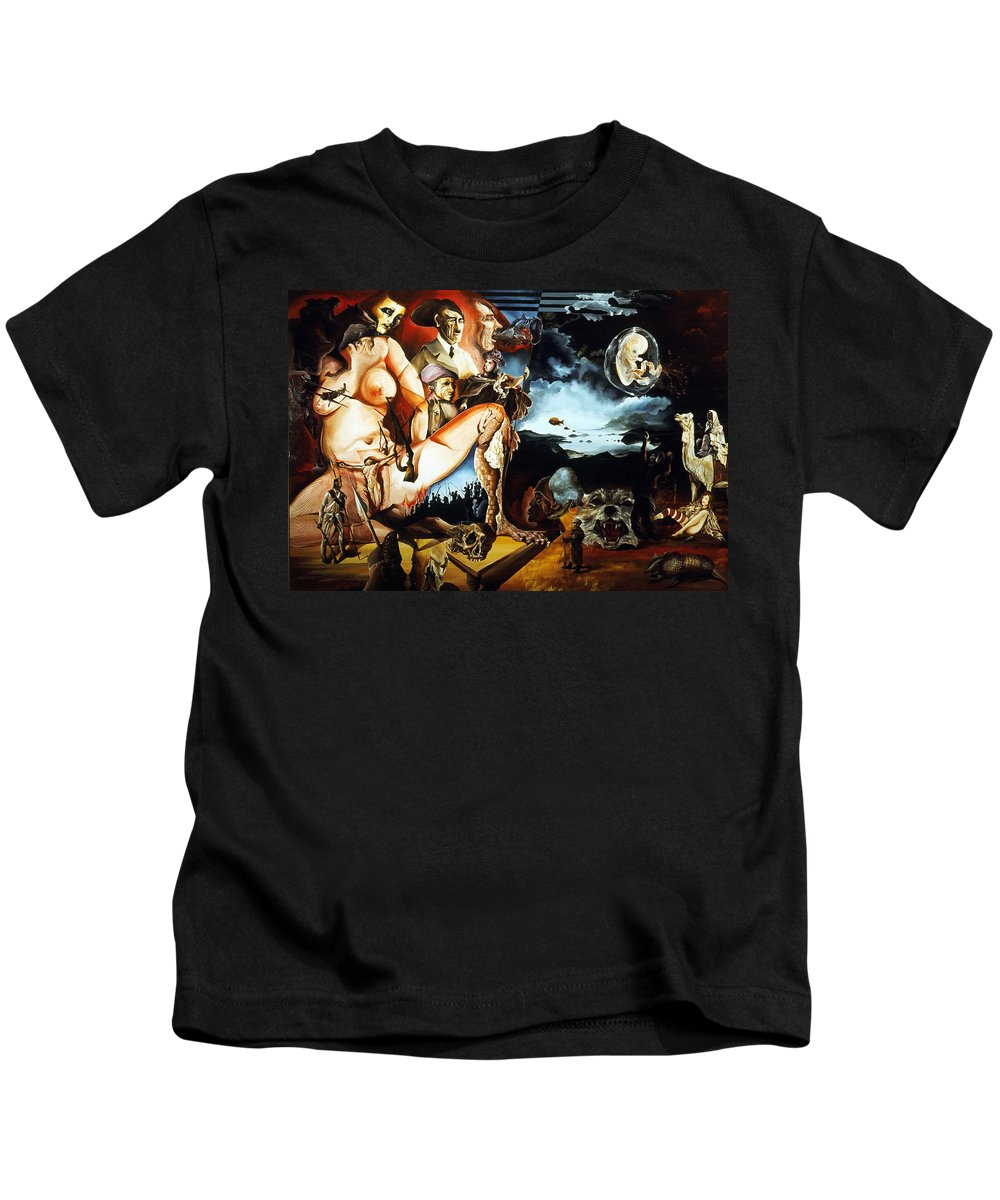 War Kids T-Shirt featuring the painting Monument To The Unborn War Hero by Otto Rapp