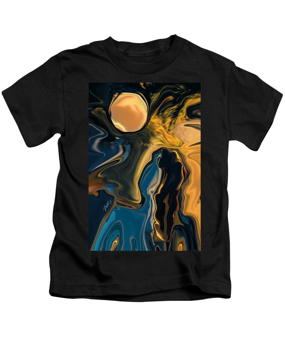 Moon Kids T-Shirt featuring the digital art Moon And Fiance by Rabi Khan