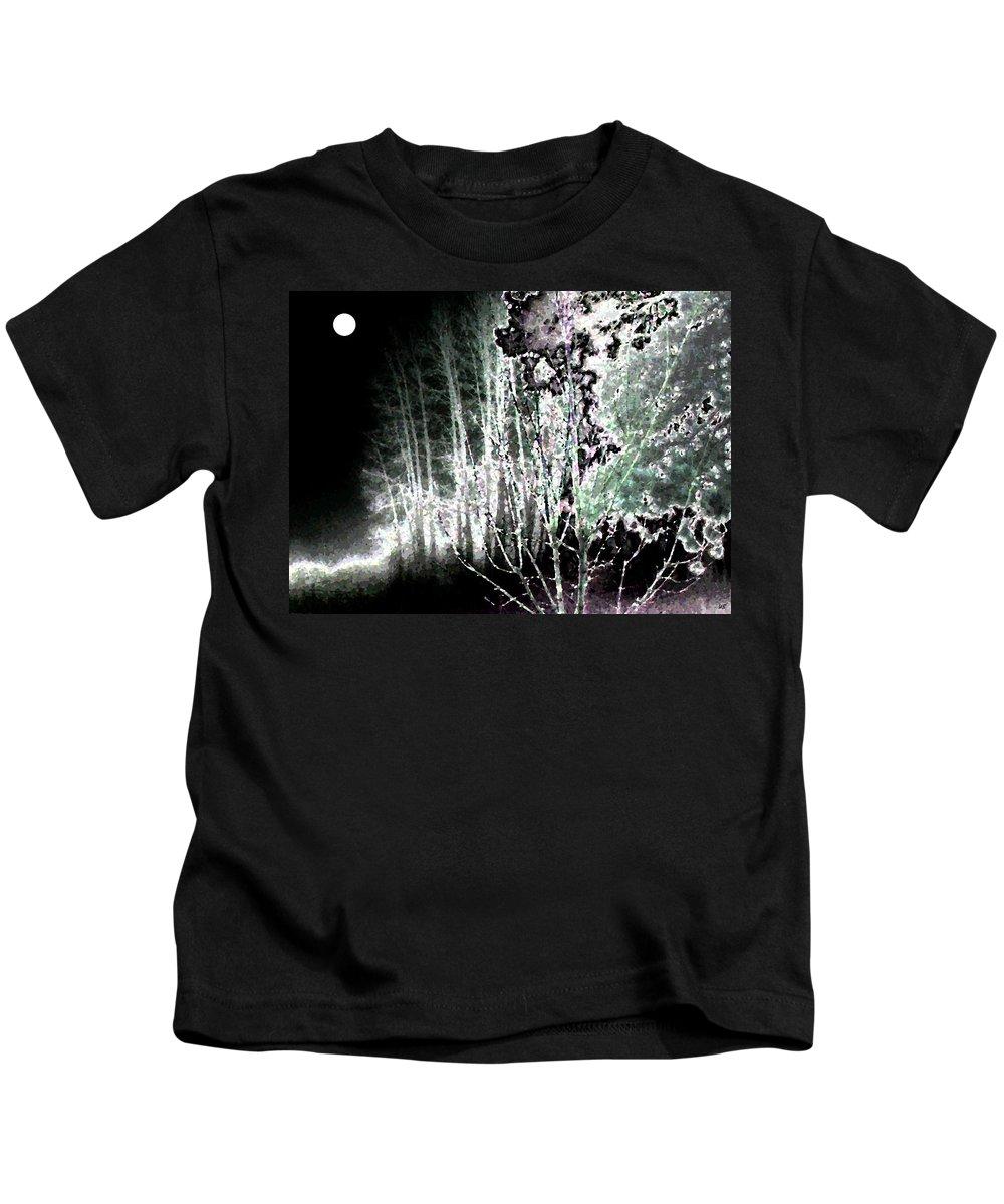 Abstract Kids T-Shirt featuring the digital art Moonlight by Will Borden