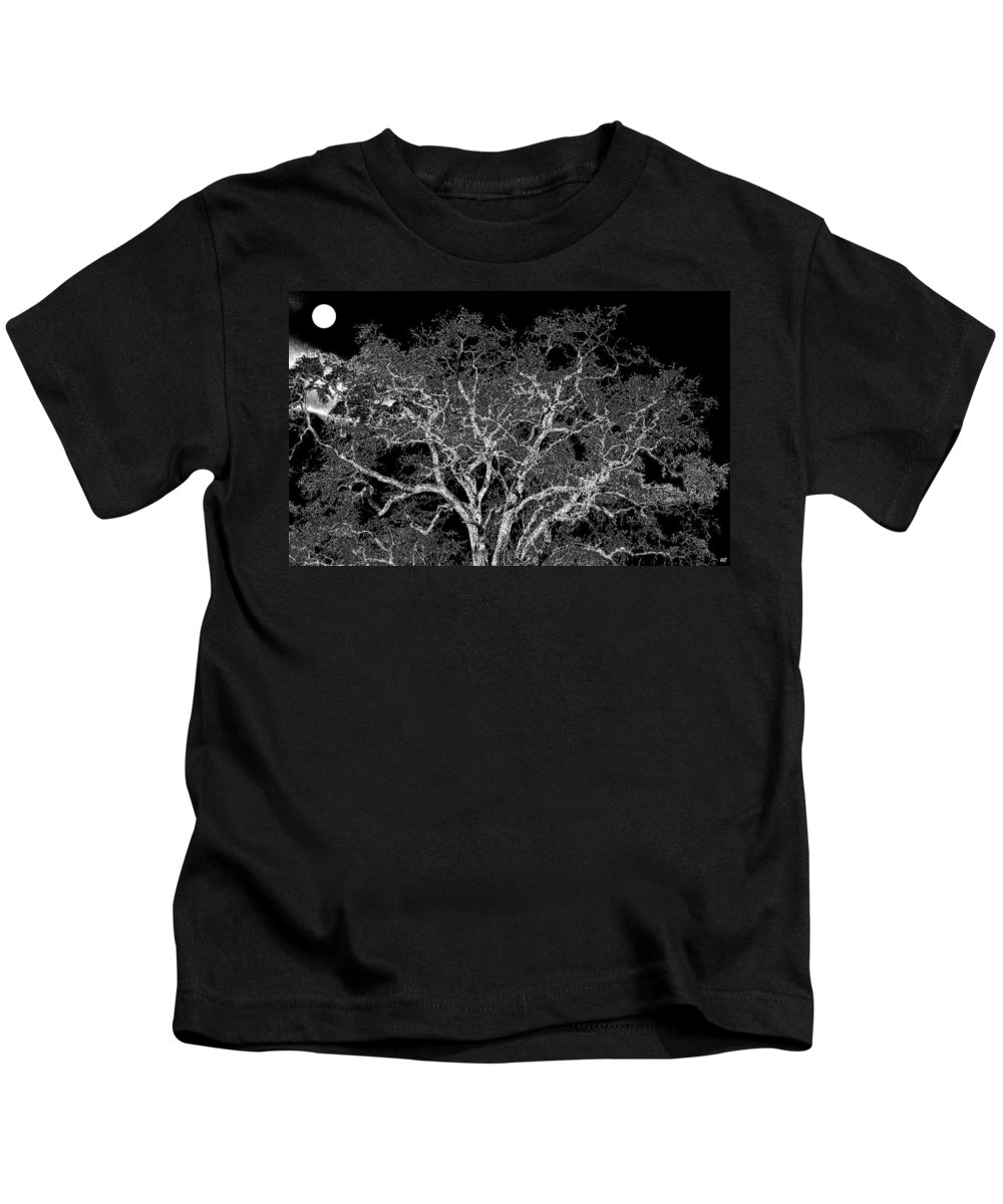 Photo Design Kids T-Shirt featuring the digital art Moonlit Night by Will Borden