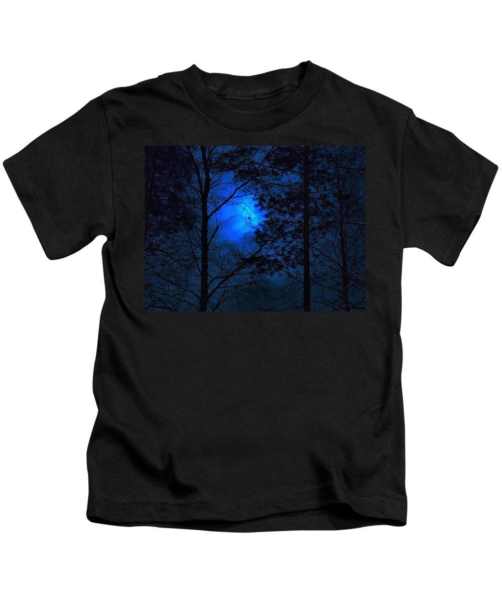 Lehtokukka Kids T-Shirt featuring the photograph Moonshine 03 Bad Moon Rising by Jouko Lehto