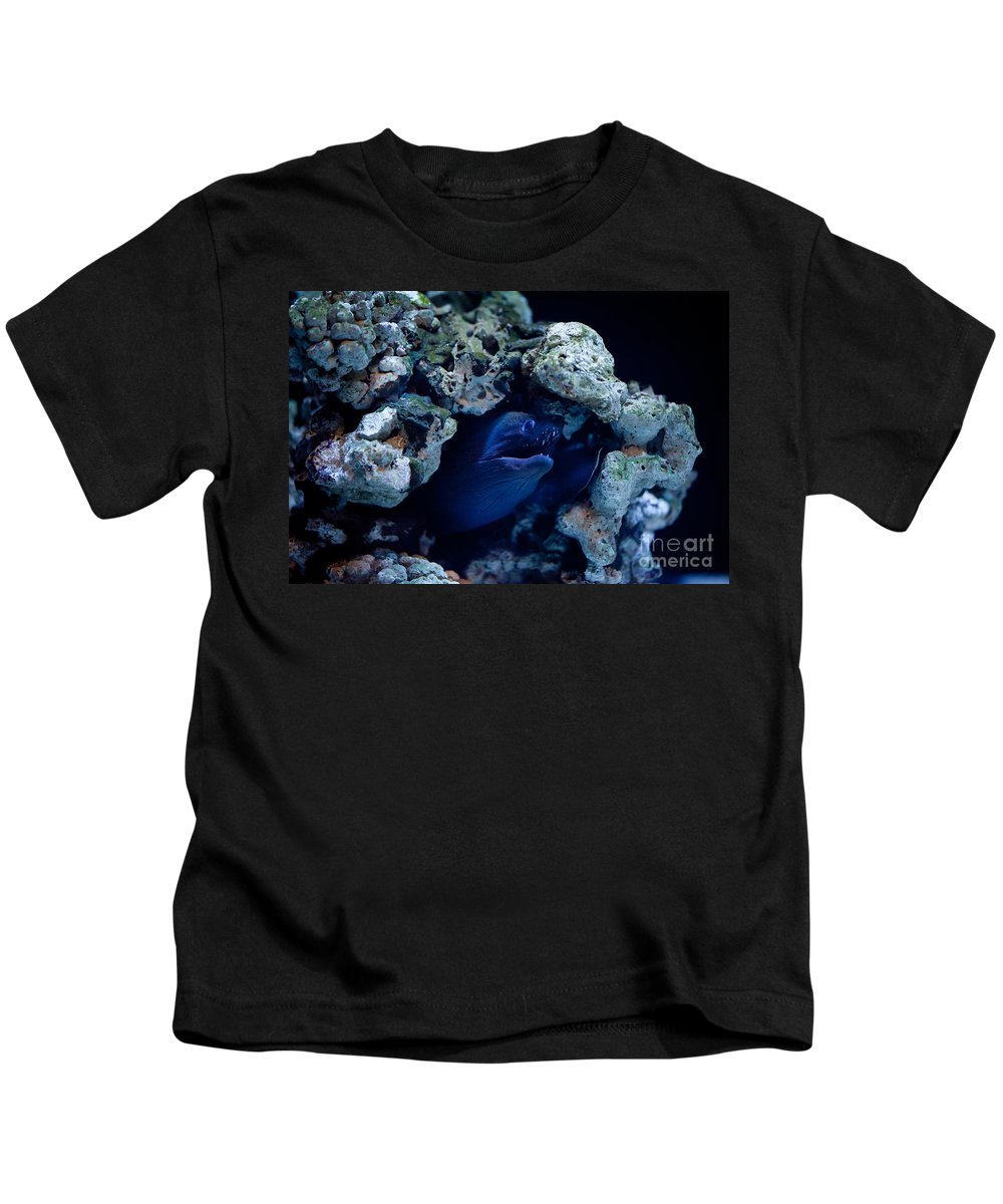 Moray Eel Kids T-Shirt featuring the photograph Moray Eel Or Muraenidae Fish by Arletta Cwalina