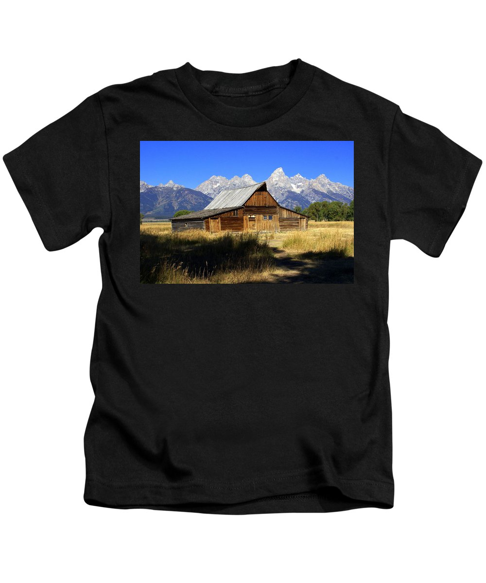 Barn Kids T-Shirt featuring the photograph Mormon Row Barn 2 by Marty Koch