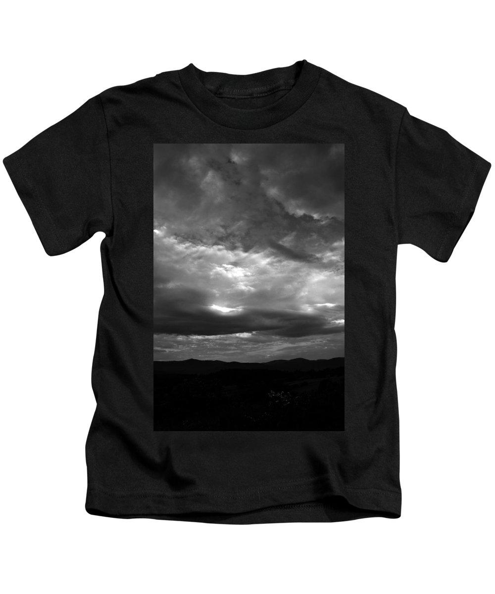 Gray Tones Kids T-Shirt featuring the photograph Morning Light by Damijana Cermelj