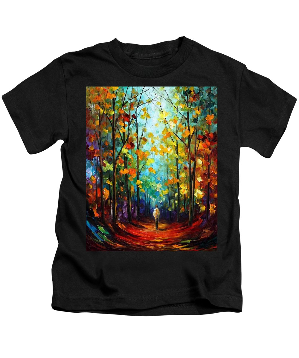 Afremov Kids T-Shirt featuring the painting Morning Mood by Leonid Afremov