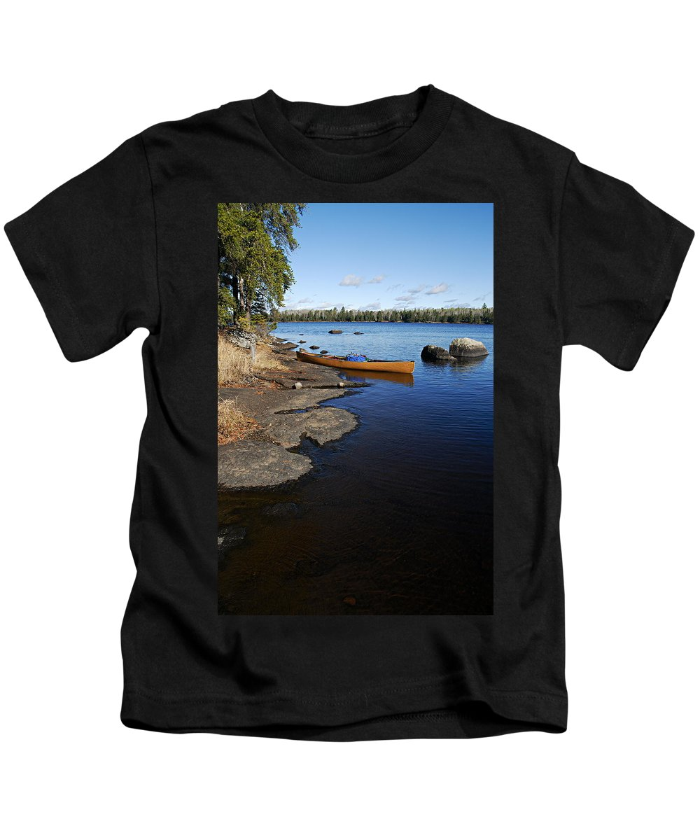 Hope Lake Kids T-Shirt featuring the photograph Morning On Hope Lake by Larry Ricker