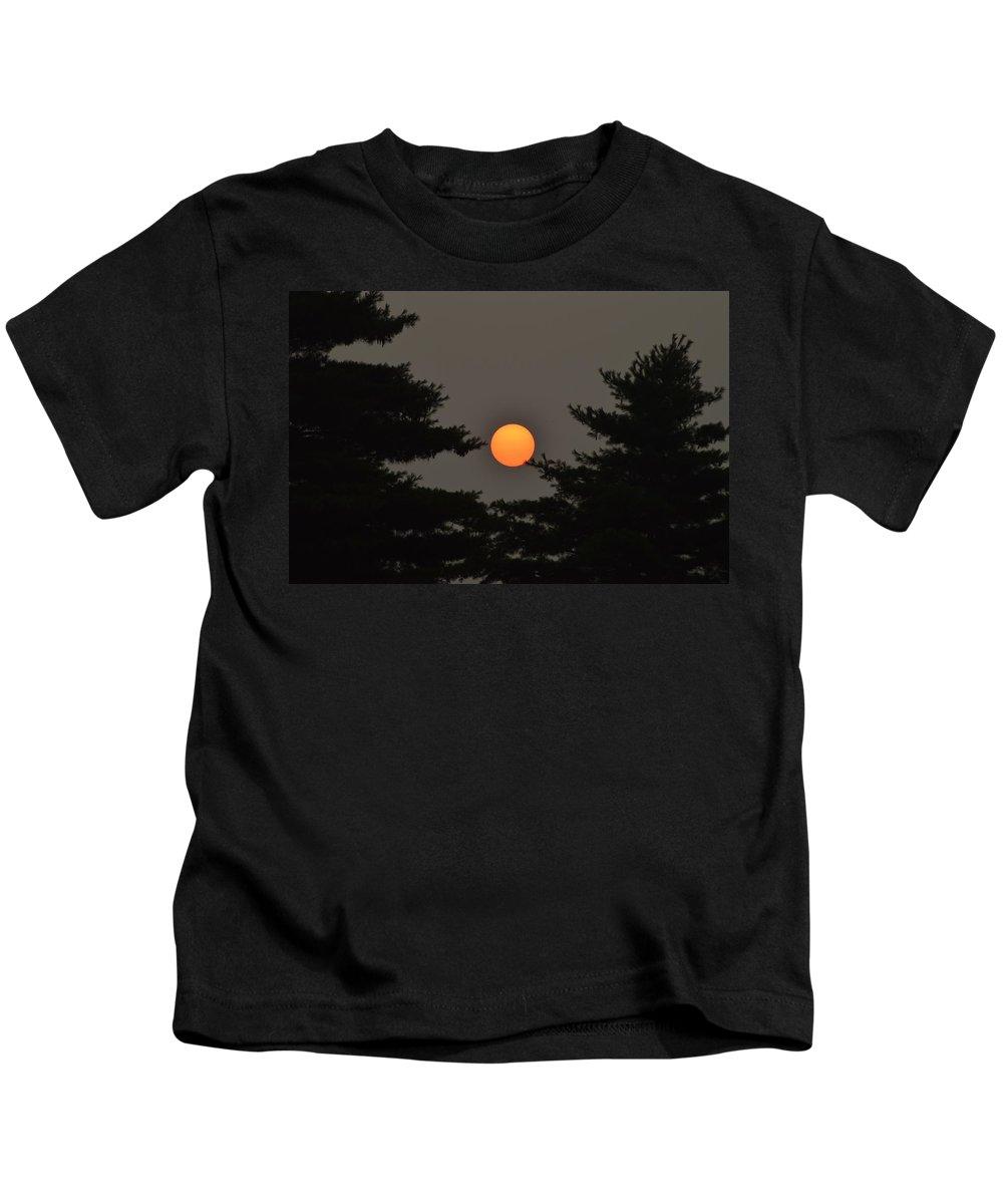 Sun Kids T-Shirt featuring the photograph Morning Sun Through Haze by Belinda Stucki